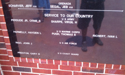 A Veteran's Memorial in Mabank Texas (In the Cedar Creek Lake area) noting my military service.