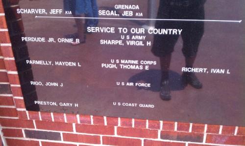 A Veteran's Memorial in Mabank Texas (In the Cedar Creek Lake area) noting my military service.