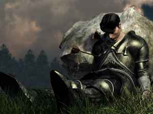 """Courtesy of thefallenknight.com """"I have become a weary knight tired of battle."""""""