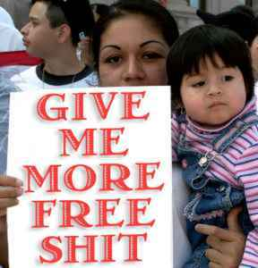 """The pending results of  new upcoming illegal door openings to our country by new discussed laws in Congress.....""""Give us more free shit.""""Courtesy of birthtourism.wordpress.com"""