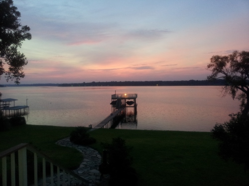 View of Cedar Creek Lake in East Texas at Gun Barrel City on September 28th 2012 at 7 a.m. photo by John J. Rigo with Samsung Smart Phone