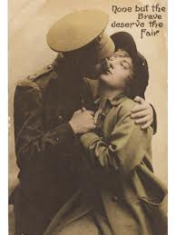 Soldier rendering goodby kiss courtesy of Google image search.