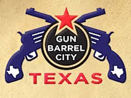 Logo for Gun Barrel City, Texas.  Image courtesy of Google Image search.