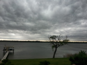 """Pending Storm"" copyright 2014 by John J. Rigo. Taken at Northwood Shores on Cedar Creek Lake in East Texas at 5:47 P.M. on May 12th, 2014"