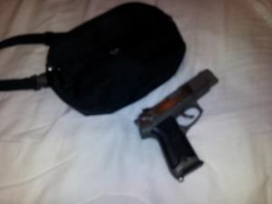 My Concealed Carry Gun, a Ruger P90, a semi-auto 45,  copyright 2014 John J. Rigo