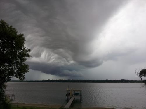 copyright 2014, John J. Rigo. Photo taken on Cedar Creek Lake in Texas on afternoon of 9/11/2014