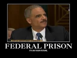 """Eric Holder leaving a Sinking Ship"" copyright 2014 by John J. Rigo.  Picture Courtesy of Google Image Search."