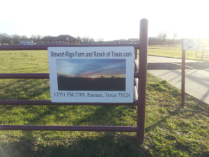 "New Sign for Stewart-Rigo Farm and Ranch of Texas formerly ""Silver Star"" copyright 2015 John J. Rigo"